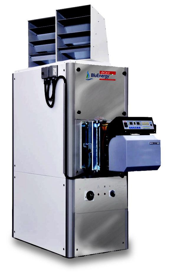 Generatore d'aria calda a pellet a condensazione in acciaio inox AirCalor - BluenergySRL
