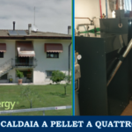 Four-star pellet boiler installation with thermal account in the province of Treviso